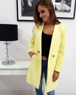 Pastelovo-žltý kabát TRINI pre dámy (ny0218)