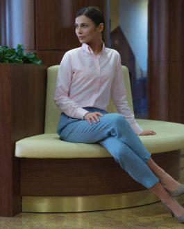 Ružová dámska košeľa v SLIM STRIHU – CroatiaSLIM