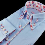 30005-DRP-7 Luxusná dámska košeľa – SLIM FIT STRIH.