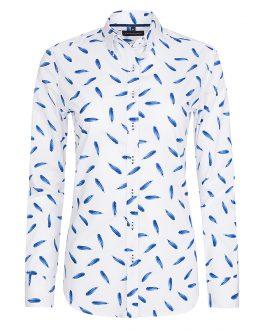 Biela dámska košeľa v klasickom strihu so vzorom Di Selentino JapanClassic