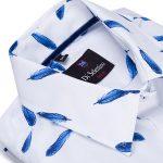 Biela dámska košeľa so vzorom Di Selentino JAPAN – Slim fit