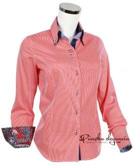 10429-DTO-17 Prúžkovaná dámska košeľa.
