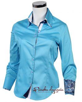 10429-DTO-6 Luxusná dámska košeľa s jemným satenovým leskom.