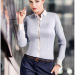 30005-KD-078 Svetlo-modrá dámska košeľa