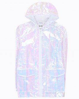 GATE Holografická bunda s kapucňou