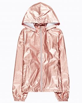 GATE Metalická bunda s kapucňou