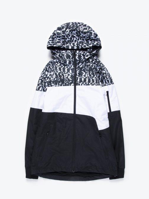 GATE Viacfarebná bunda s odopínateľnou kapucňou