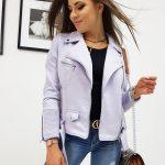 Dámska štýlová fialová bunda LOUISE (ty0650)