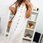 Dámske šaty GIULIA v ecru farbe (ey0850)