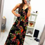 Dámske štýlové dlhé šaty (ey0852)