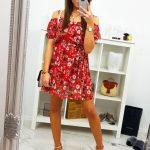 Červené dámske šaty (ey0861)