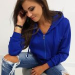 Pohodlná dámska mikina modrej farby (by0230) skl.3