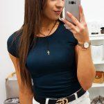 Granátové tričko s krátkym rukávom (ry0736)