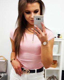 Klasické dámske ružové tričko (ry0738)