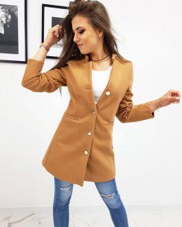 Originálny dámsky jednoradový kabát (ny0254)