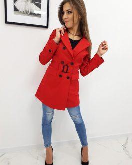 Červený dámsky plášť (ny0260)