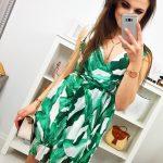 Dámske štýlové šaty (ey0882)