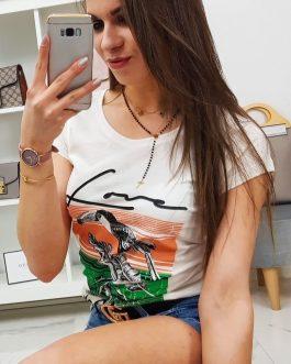 Dámske tričko PELIKAN v smotanovej farbe (ry0753)