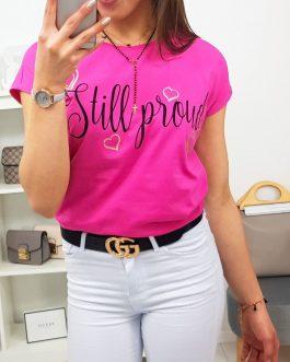 Dámske ružové tričko STILL (ry0766)