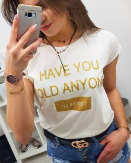 Smotanové tričko SECRET s krátkym rukávom (ry0835)