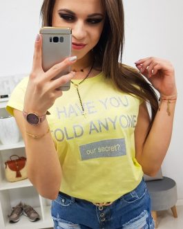 Štýlové dámske tričko SECRET (ry0840)