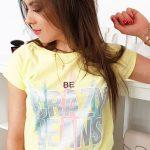 Bavlnené žlté tričko CRAZY JEANS (ry0954)
