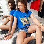Trendové modré tričko CRAZY JEANS (ry0955)