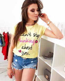 Žlté dámske tričko na leto (ry0960)