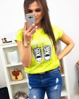 Moderné dámske tričko SHOES (ry0986)
