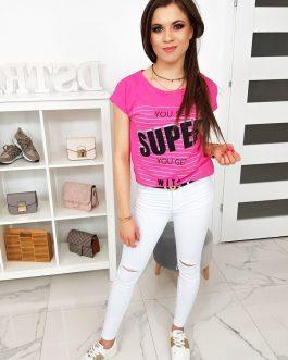 Jedinečné ružové dámske tričko (ry0994)