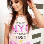 Krásne púdrovo-ružové dámske tričko (ry0999)