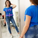 Modré dámske tričko (ry1000)