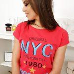 Dámske tričko v malinovej farbe (ry1004)