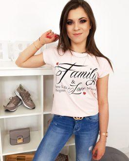 Jedinečné púdrovo-ružové tričko (ry1015)