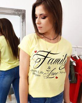 Dámske tričko v citrónovo-žltom prevedení (ry1017)