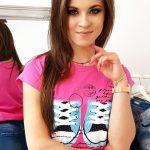 Originálne dámske ružové tričko (ry1030)