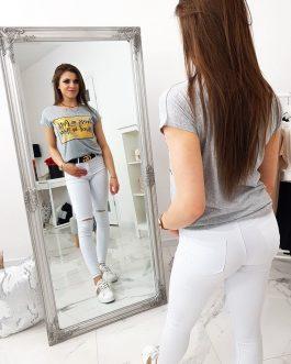 Svetlo-šedé letné dámske tričko (ry1041)