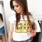 Dámske tričko s smotanovo-bielom prevedení (ry1044)