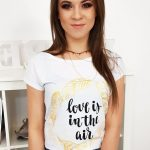 Biele tričko s potlačou (ry1047)