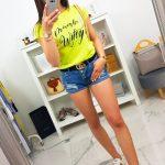 Trendové žlté tričko (ry1068)