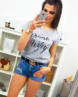Dámske tričko sivej farby (ry1074)