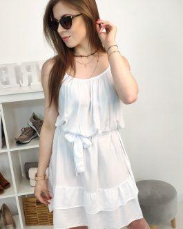 Biele dámske šaty na leto (ey0907)