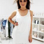 Biele jednoduché šaty (ey0919)