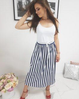 Biele šaty na ramienka (ey0945)