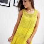 Žlté dámske šaty (ey0958)