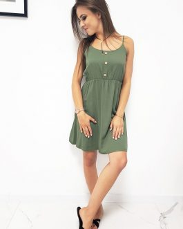 Zelené dámske šaty (ey0961)