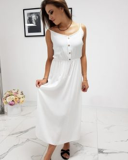 Dámske biele šaty (ey0971)