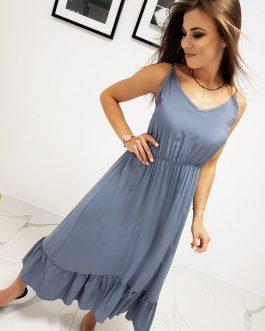 Dámske granátové letné šaty (ey0979)