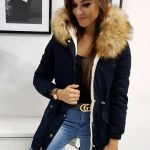 Zimná granátová bunda s kapucňou SUPREME (ty0760)