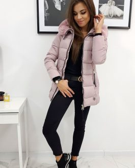 Zimná bunda NAOMI ružovej farby (ty0766)